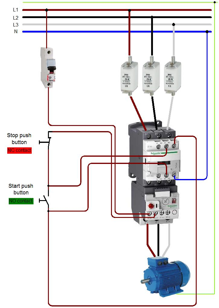 Overload Relay Wiring Diagram Schematic