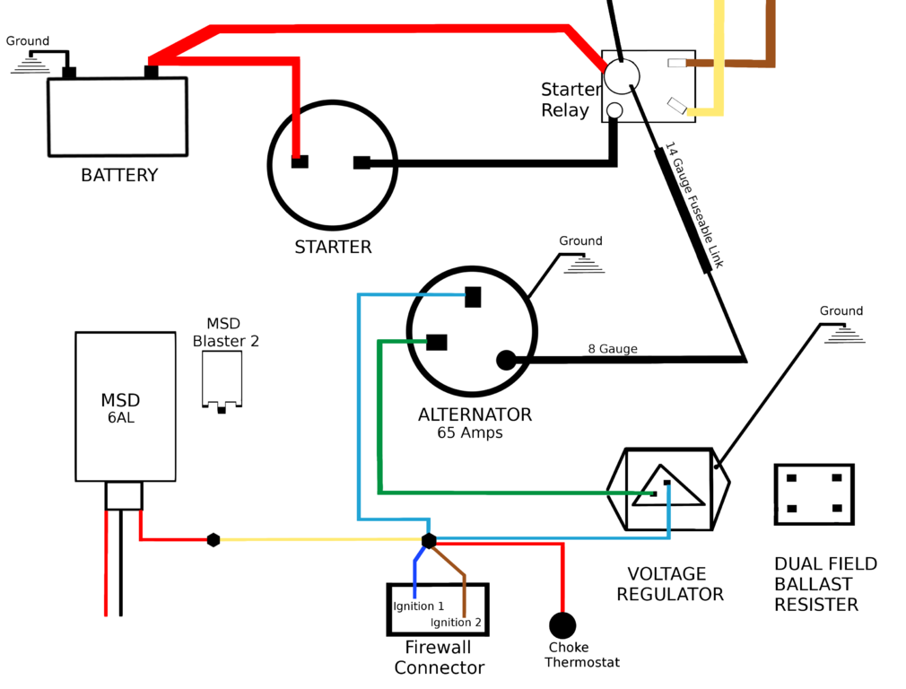 wy1950 electric cooling fan wiring question for a bodies