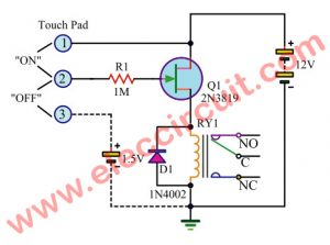 Prime 7 Simple Touch Switch Circuit Projects Eleccircuit Com Wiring Cloud Onicaxeromohammedshrineorg