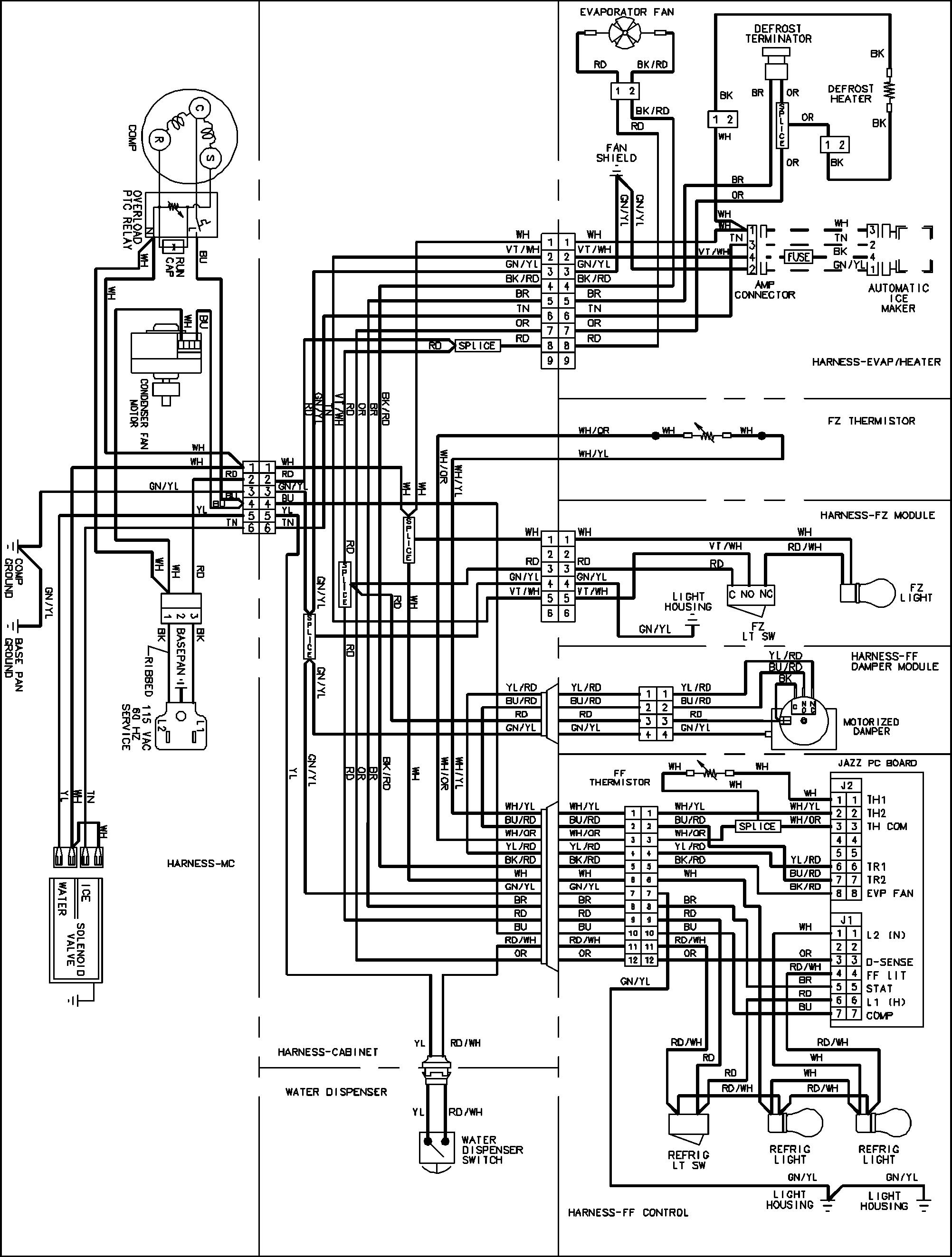 HT_3880] Refrigerator Wiring Diagram Further Amana Refrigerator Wiring  Diagram