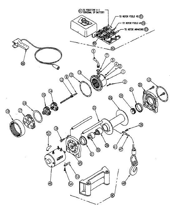 my3638 warn winch parts diagram wiring diagram