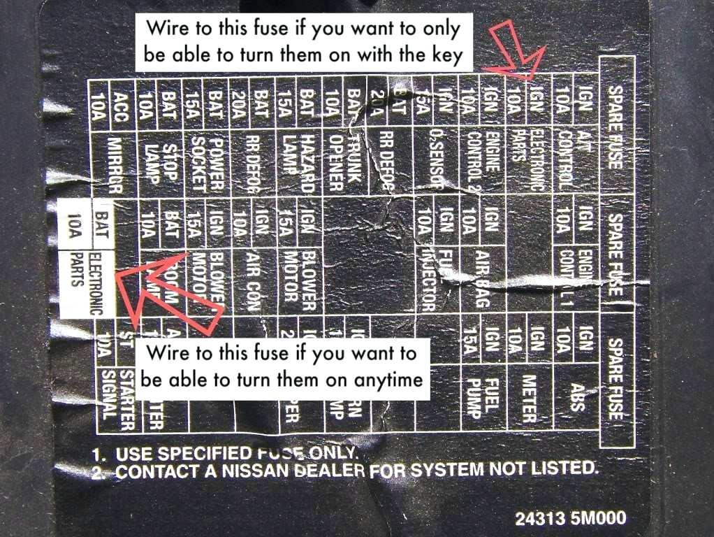RE_3483] 2001 Nissan Maxima Engine Fuse Box Diagram Free Diagram