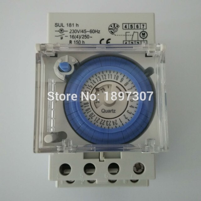 Amazing Sul181H Analog Timer 16A Mechanical 24 Hour Time Switch Battery Ce Wiring Cloud Rineaidewilluminateatxorg