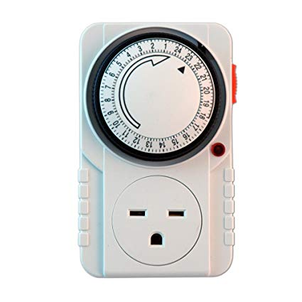 Outstanding 240V Analog Single Timer Single Outlet Electrical Timer Amazon Com Wiring Cloud Rineaidewilluminateatxorg