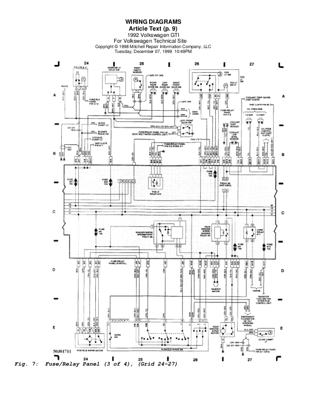 Vw Golf 1998 Wiring Diagram