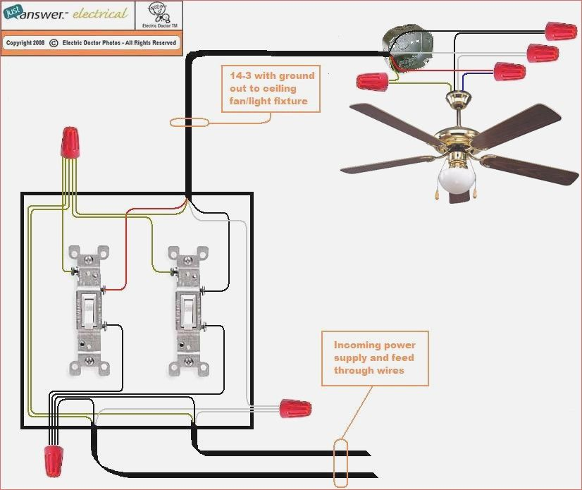 Gn 3624 Wiring A Ceiling Fan To Three Way Switch Download Diagram