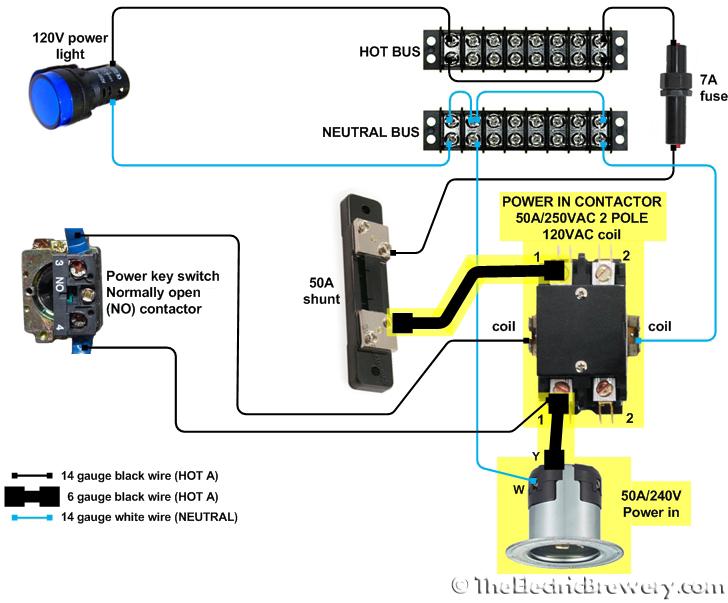 240v Contactor 120v Coil Wiring Diagram