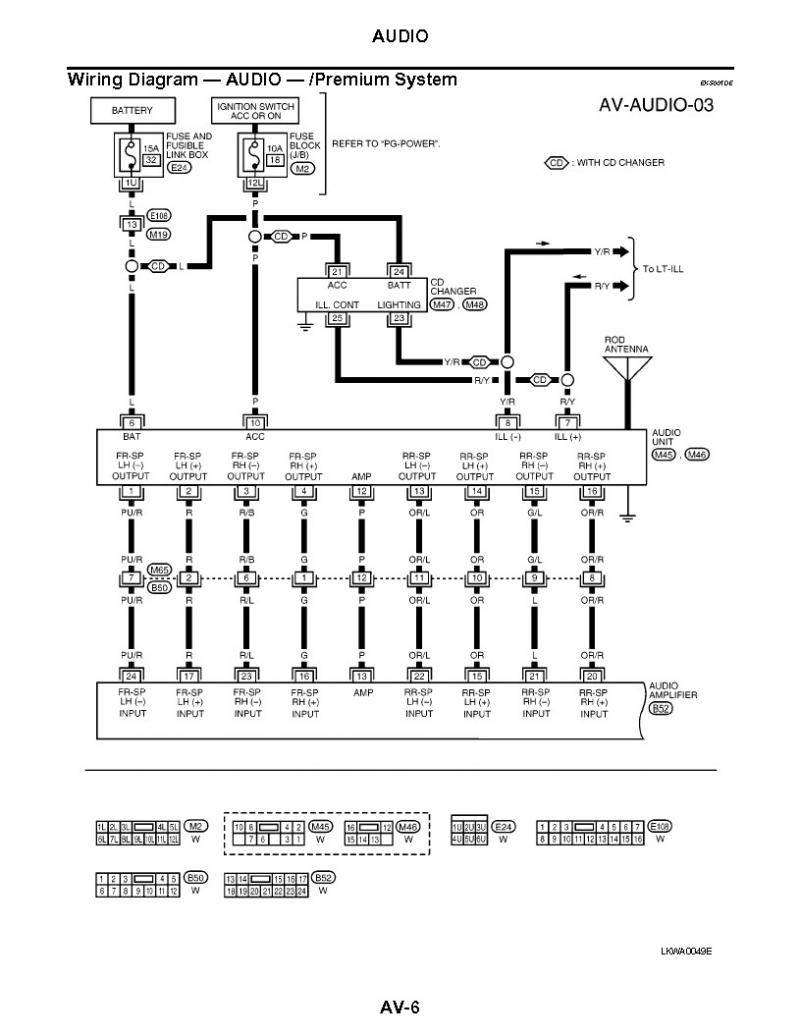 Radio Wiring Diagram For 2003 Nissan Sentra