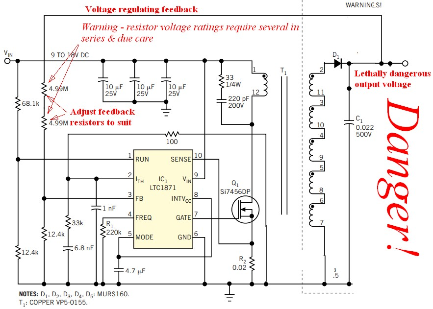 Miraculous High Voltage 3V To 500V Dc Converter Electrical Engineering Wiring Cloud Rineaidewilluminateatxorg