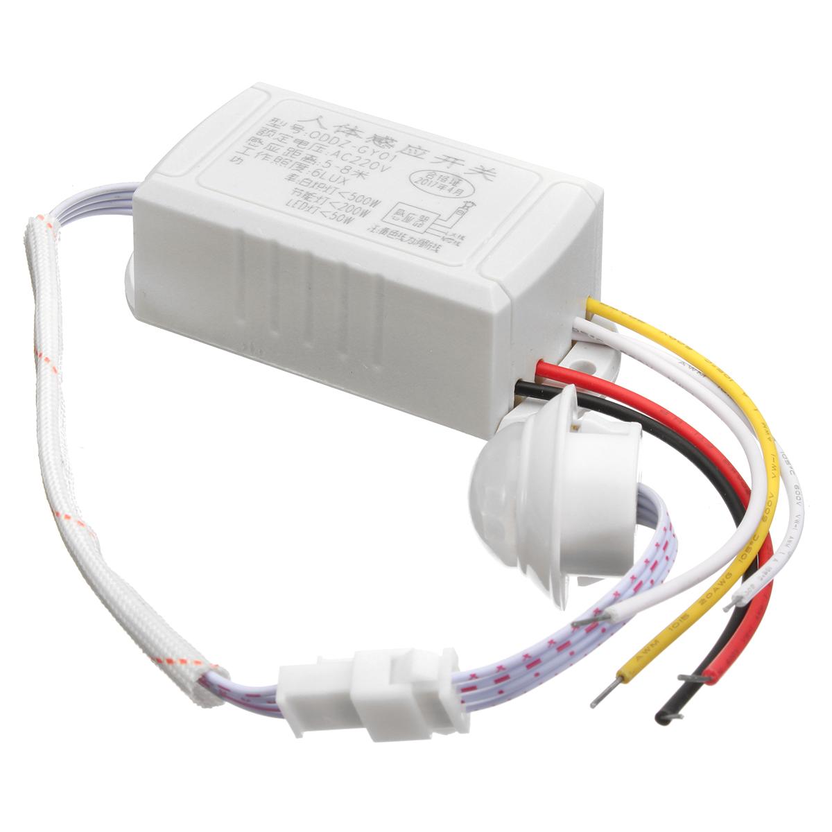 Strange 220V 5 8M Ir Infrared Body Motion Sensor Automatic Intelligent Light Wiring Cloud Orsalboapumohammedshrineorg