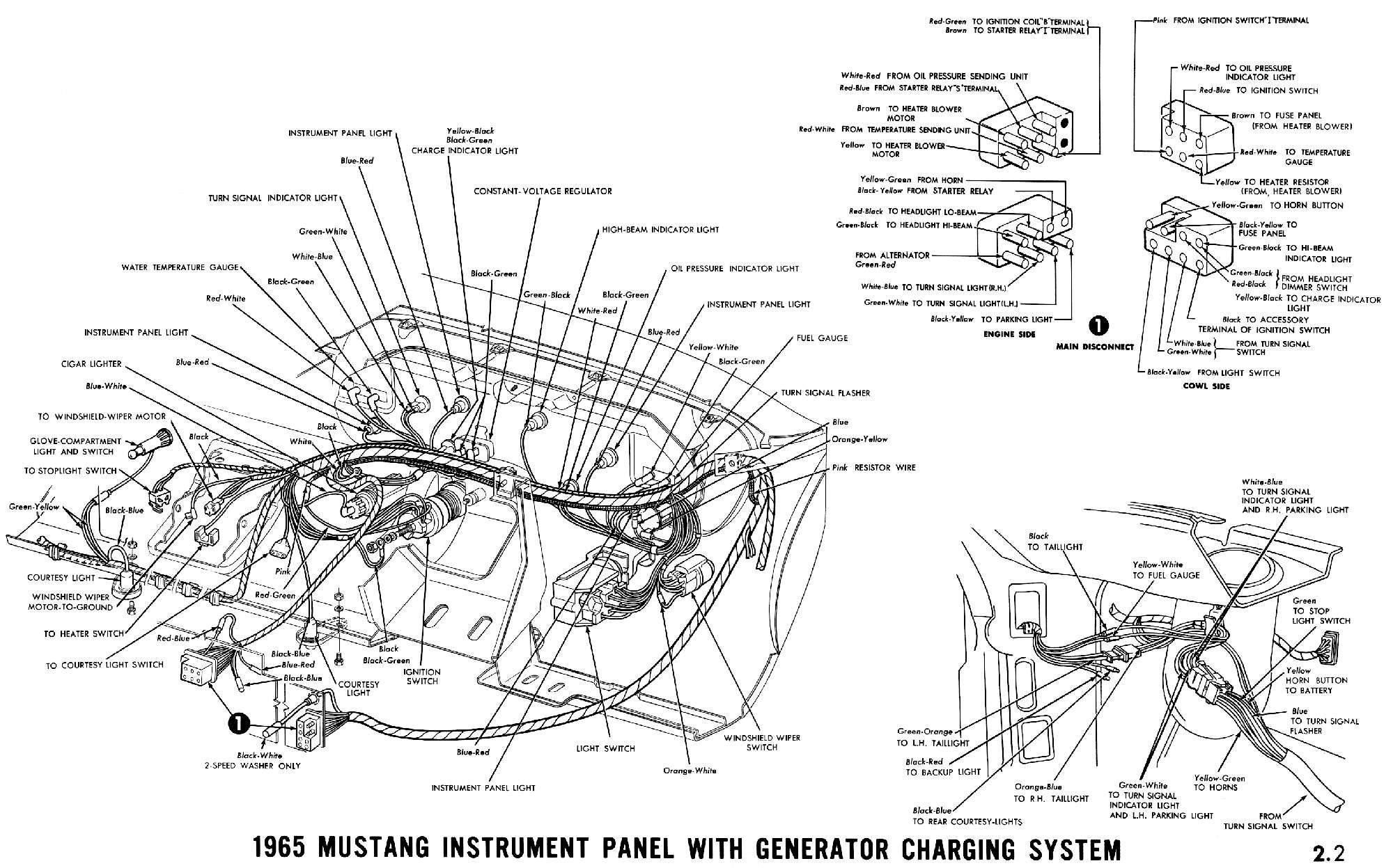 Pleasant 1965 Mustang Wiring Diagrams Automotive Repair 1965 Mustang Wiring Cloud Lukepaidewilluminateatxorg