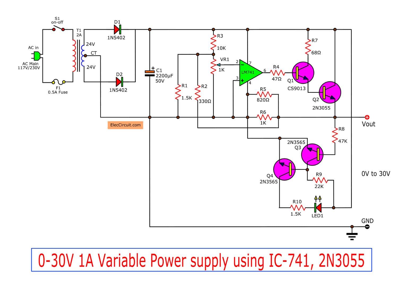 50W Mono Transistor Power Amplifier Blank PCB DIY UA741  MJE2955//2N3055 Circuit