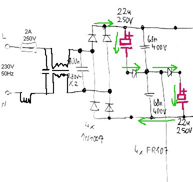 Miraculous Rectifier Serial Capacitors In Electronic Ballast Of A Fluorescent Wiring Cloud Itislusmarecoveryedborg