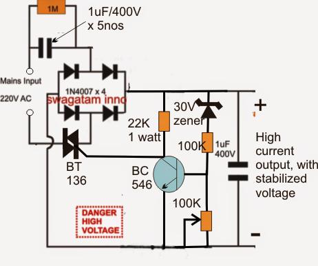 Strange High Current Transformerless Power Supply Circuit Homemade Circuit Wiring Cloud Gufailluminateatxorg