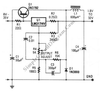Incredible Lm317 Low Cost 3A Switching Regulator Simple Circuit Diagram Wiring Cloud Xempagosophoxytasticioscodnessplanboapumohammedshrineorg