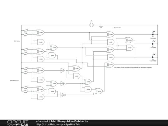 Ef 9866  2 Bit Adder Logic Diagram Schematic Wiring