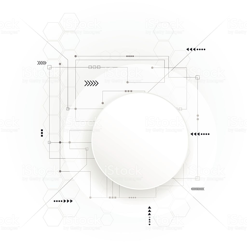 Remarkable Minimal Abstract 3D White Paper Circle On Circuit Board Stock Vector Wiring Cloud Orsalboapumohammedshrineorg