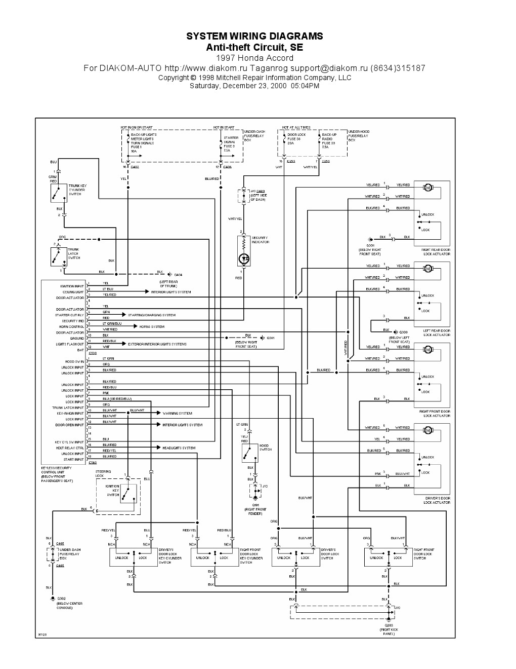 1997 Honda Accord Wiring System - 1956 Continental Window Motor Wiring  Diagram for Wiring Diagram SchematicsWiring Diagram Schematics