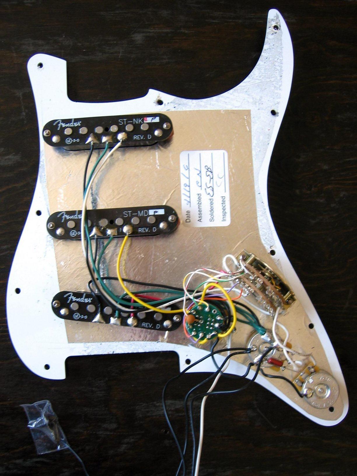 Fender Stratocaster Noiseless Wiring Diagram