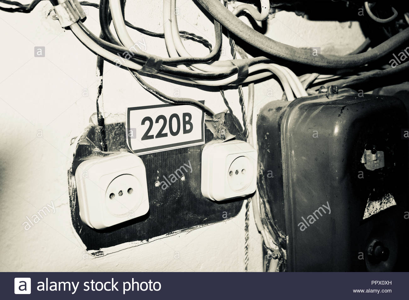 Peachy Old Electrical Wiring Stock Photos Old Electrical Wiring Stock Wiring Cloud Grayisramohammedshrineorg