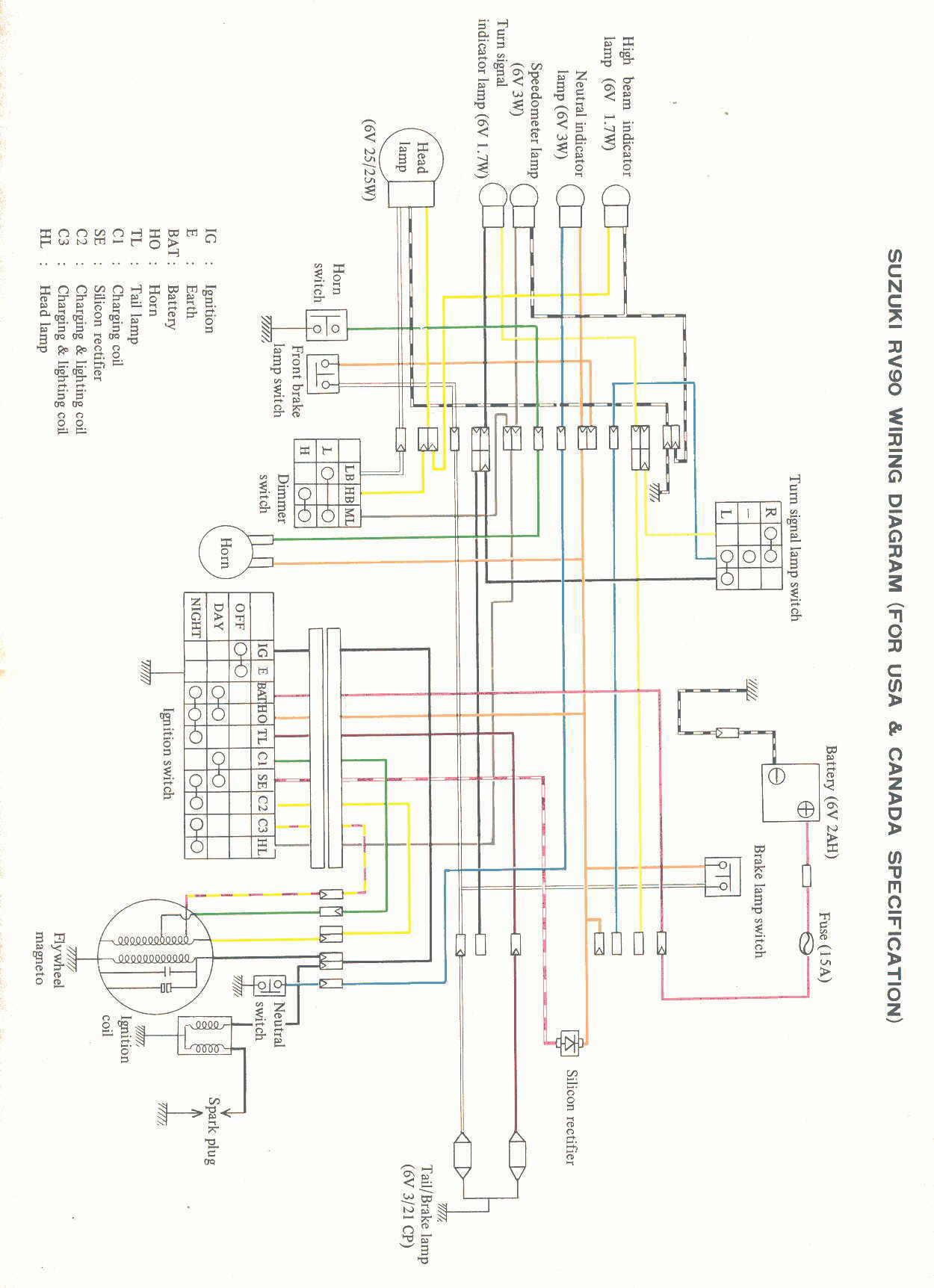 suzuki rv 50 wiring diagram kh 3684  suzuki ts 250 wiring diagram schematic wiring  suzuki ts 250 wiring diagram schematic