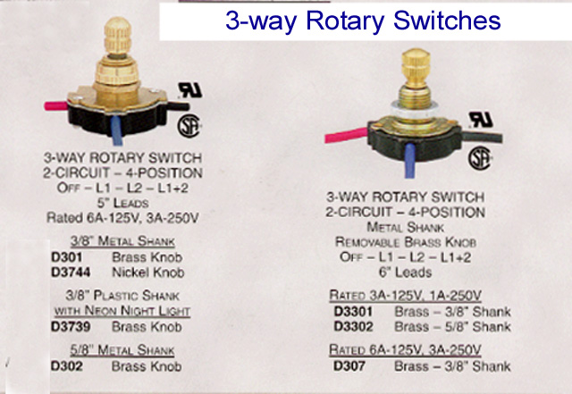 Way Rotary Switch Wiring Diagram On