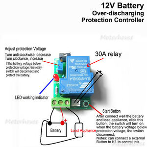 Miraculous 12V Battery Excessive Over Discharge Protection Controller 30A Wiring Cloud Domeilariaidewilluminateatxorg