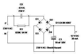 Astonishing Transformer Less 12V Power Supply Out Of Led Bulb Wiring Cloud Overrenstrafr09Org