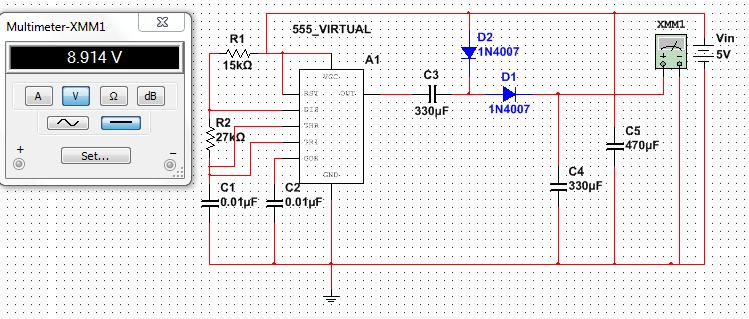 Fantastic 555 Simulation Error And Output Voltage Drop Of Dc Voltage Doubler Wiring Cloud Picalendutblikvittorg