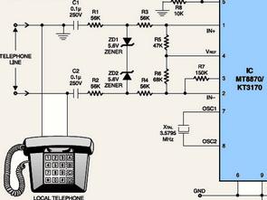 Awe Inspiring Dtmf Receiver Sample Test Circuit Kt3170 Mt8870 Electronics Wiring Cloud Ostrrenstrafr09Org