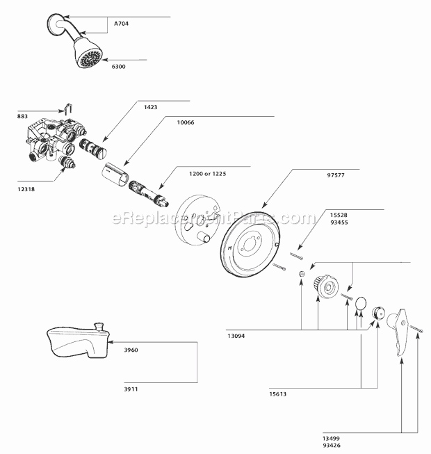 Tv 2156 Moen Bathroom Faucet Repair Diagram Shower Faucet Repair