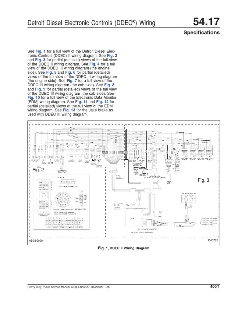 Marvelous Ddec Ii And Iii Wiring Diagrams Diesel Engine Truck Wiring Cloud Hemtshollocom