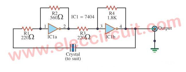 Groovy Simple Crystal Oscillator Circuit Using 74Ls04 Oscillators Wiring Cloud Ittabpendurdonanfuldomelitekicepsianuembamohammedshrineorg