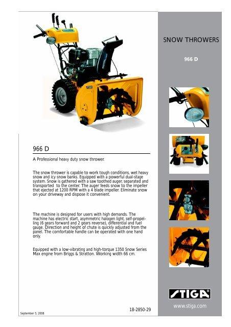Gl 5119  Stiga Comfort 16 2010 Parts Diagram Engine