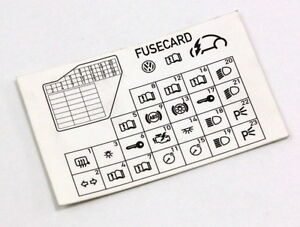 Fine Dash Fuse Box Diagram Card 98 10 Vw Beetle Genuine 1C0 010 232 K Wiring Cloud Hemtshollocom