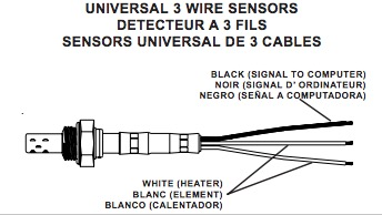 No 8642 Gm 3 Wire Oxygen Sensor Wiring Diagram Oxygen Sensor