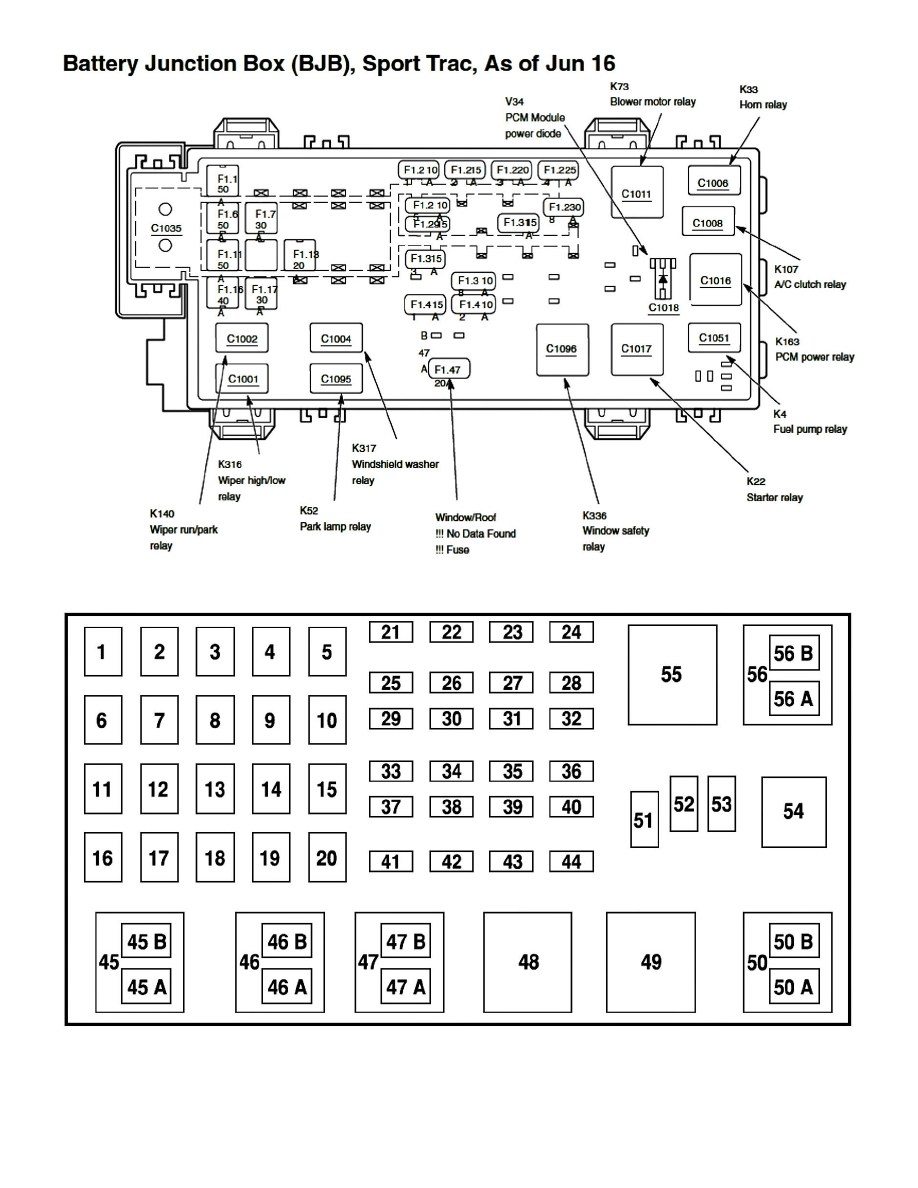 Ec 8668 1999 Ford Ranger Fuse Box Diagram Free Diagram