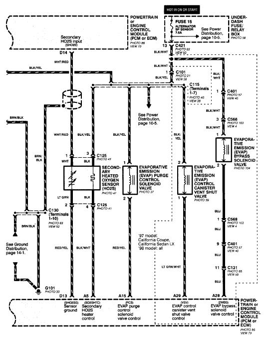 HN_0168] 98 Honda Civic O2 Sensor Wiring Diagram Download DiagramPonol Nerve Bocep Mohammedshrine Librar Wiring 101