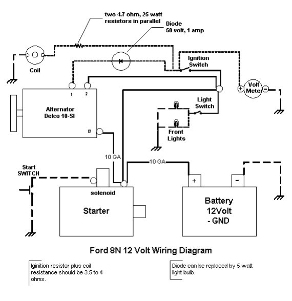 Ford 8n 6 Volt Solenoid Wiring 2007 Hyundai Accent Radio Wiring Diagram For Wiring Diagram Schematics