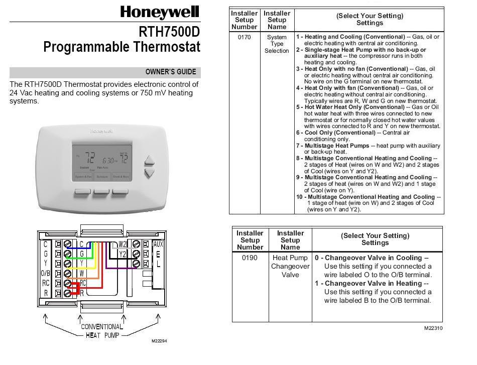 Honeywell Thermostat Wiring Diagram For Heat Pump
