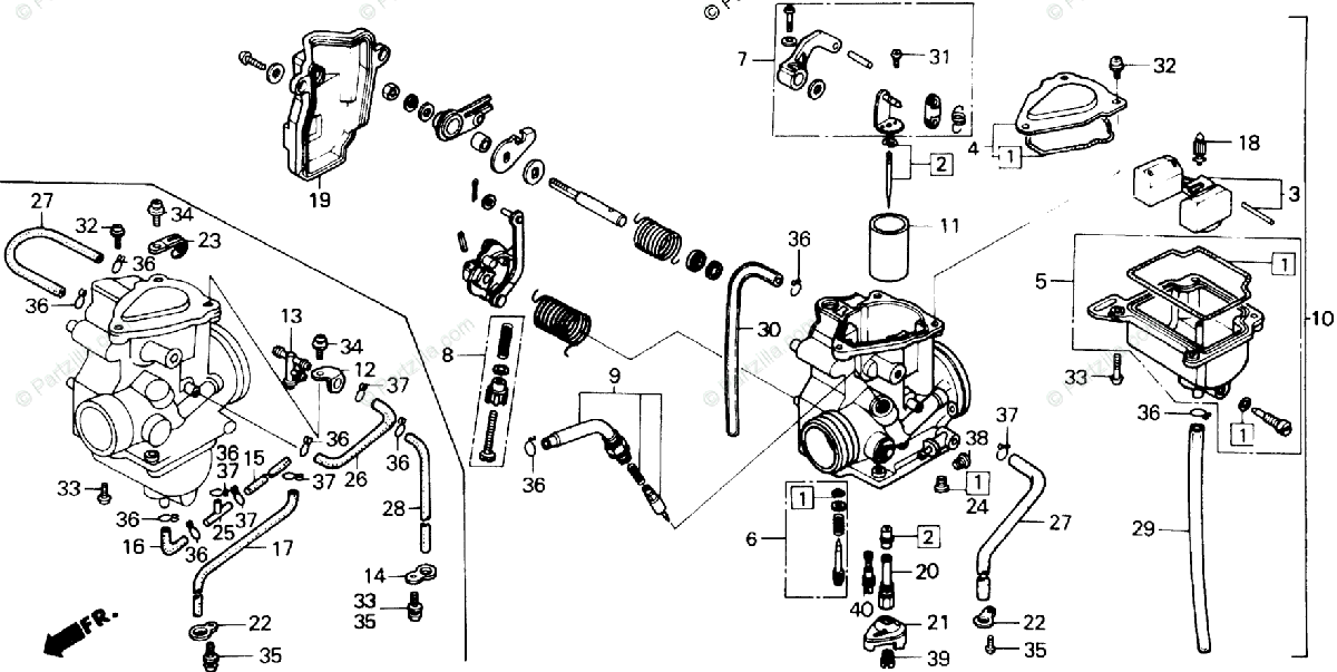 rk 3682  honda recon carburetor diagram wiring diagram