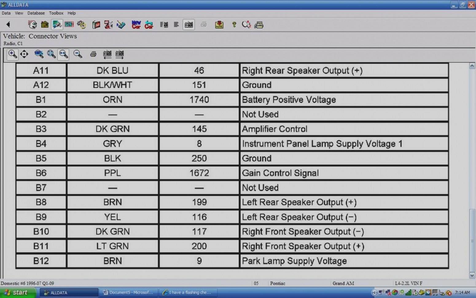 2004 Pontiac Grand Prix Radio Wiring Diagram  U2013 Database