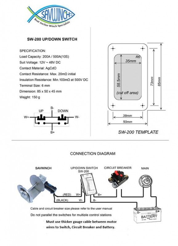 Awesome Wiring Diagram Savwinch Boat Anchor Winch Specialists Wiring Cloud Rometaidewilluminateatxorg