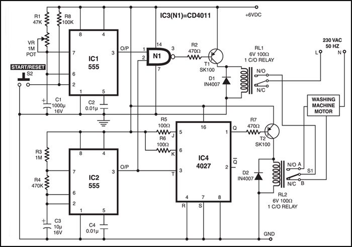Aa 2332  Washer Wiring Diagram Schematic As Well As