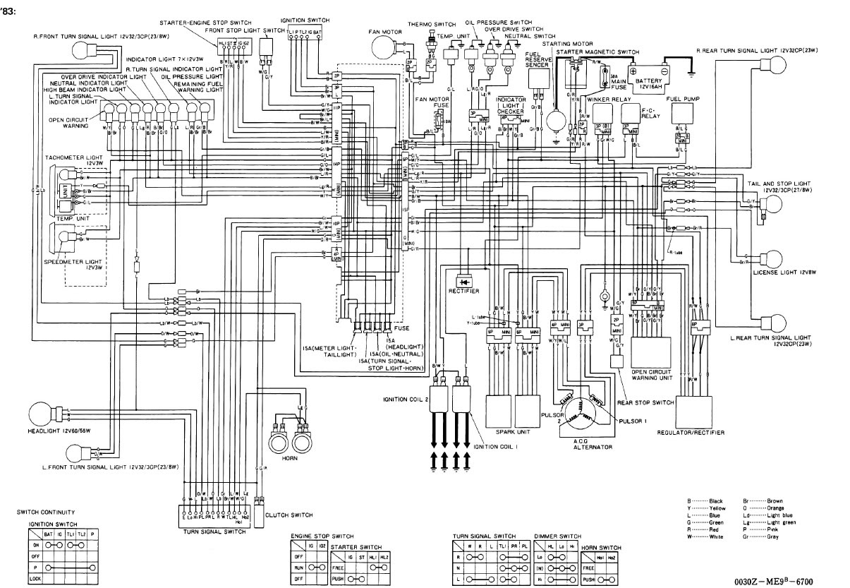 1985 Honda Magna 700 Wiring Diagram
