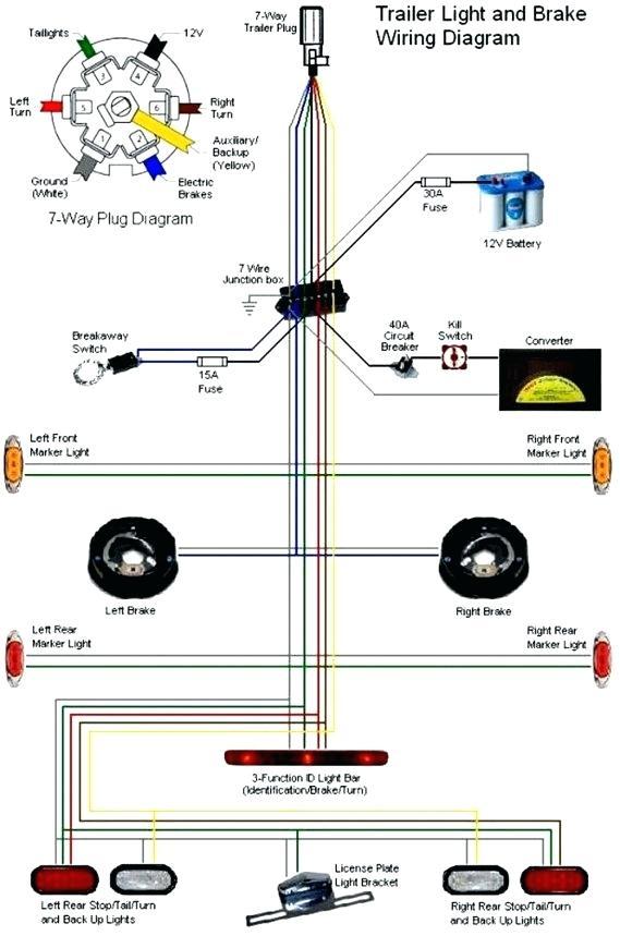 Tn 3834 Flat To 7 Way Trailer Plug Adapter On 4 Flat Trailer Wiring Schematic Wiring