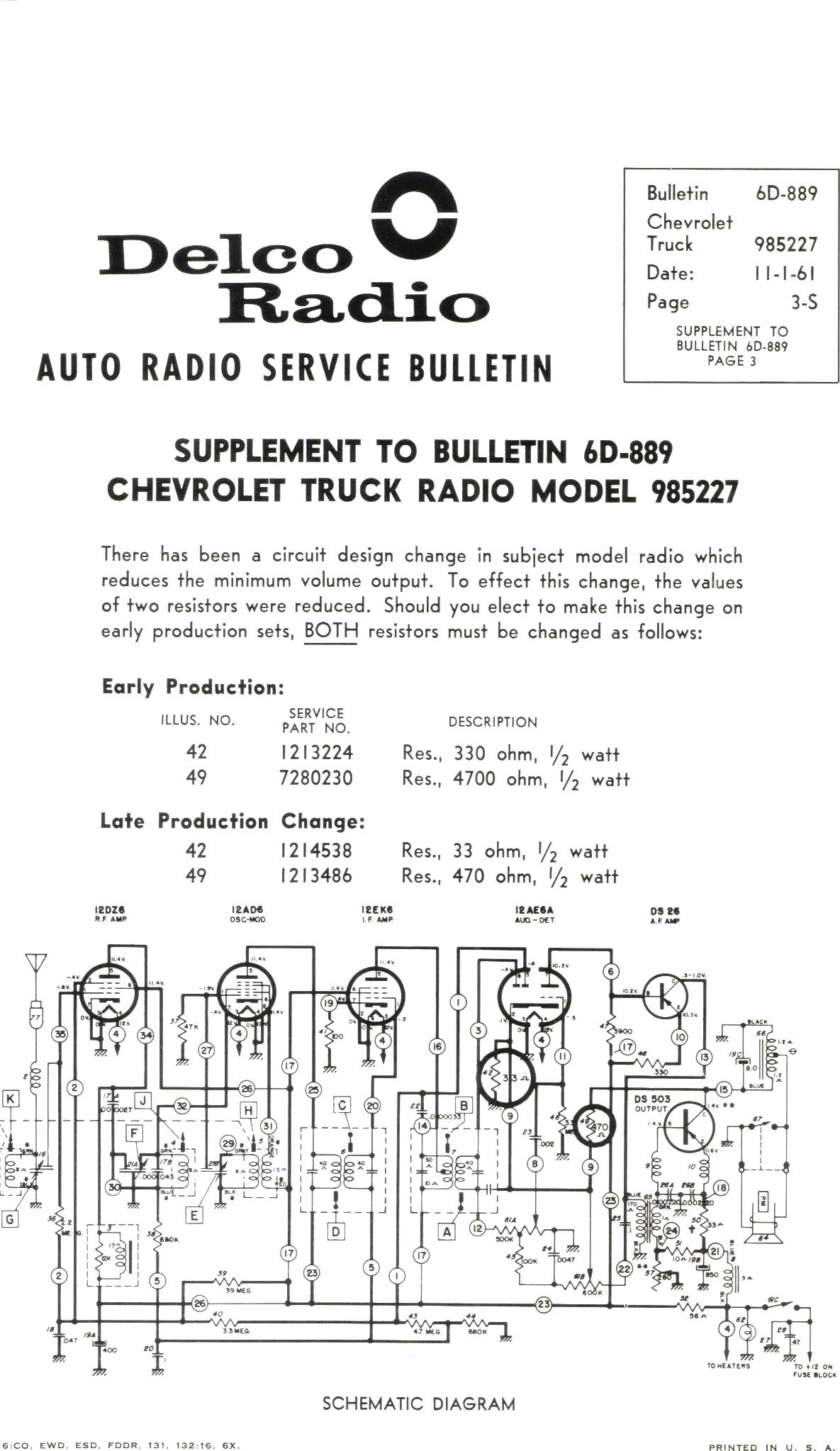 Delphi Delco Electronics Radio Wiring Diagram