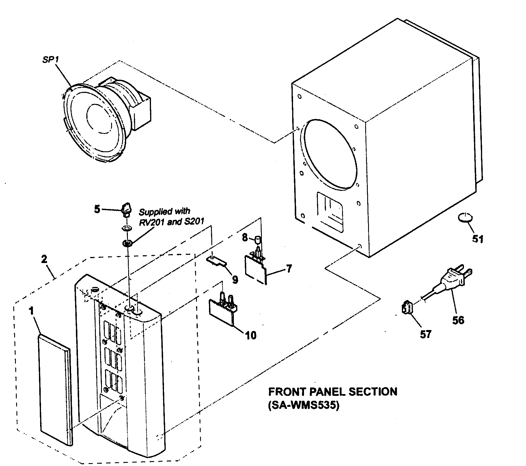 Remarkable Sony Model Sa Ve535H Speakers Genuine Parts Wiring Cloud Itislusmarecoveryedborg