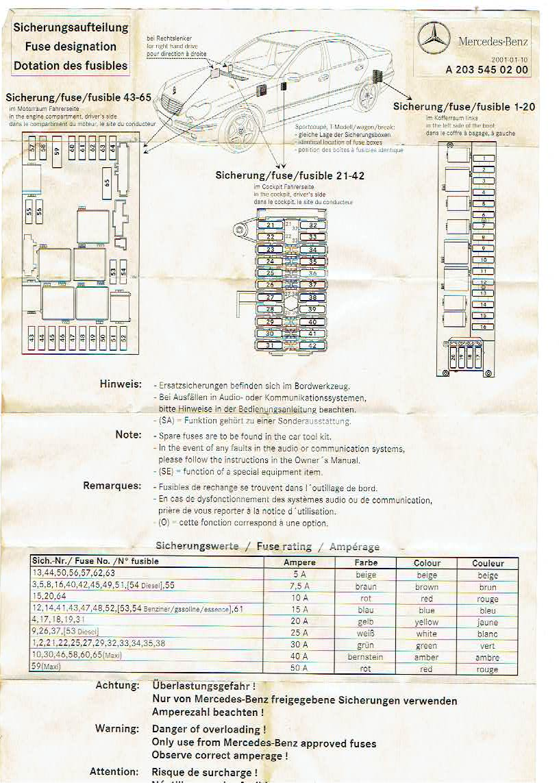 Wiring Diagram 2001 Mercedes S430 Interior - Wiring Diagrams Blogpalox-france.fr