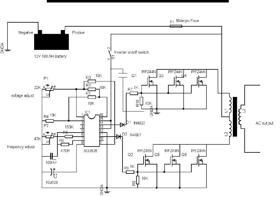 Superb 12V 600Va Inverter Project Using A Transformer Salvaged From Ups Wiring Cloud Cranvenetmohammedshrineorg